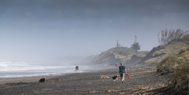 Debris from the Francie's capsize was scattered over Muriwai Muriwai Beach. Photo / Greg Bowker