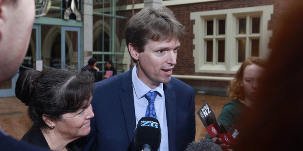 Loading Former Conservative Party leader Colin Craig speaks to media after losing a defamation case against Jordan Williams. Photo / Nick Reed.