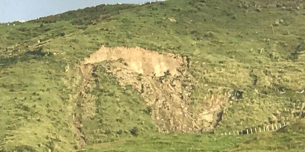 Continual rain has caused this Eketahuna sheep farmer's paddock to slip away.