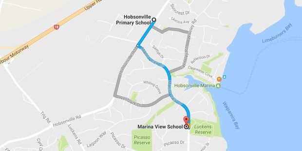 Hobsonville Primary and Marina View schools - the two schools affected by the letter. Photo / Google
