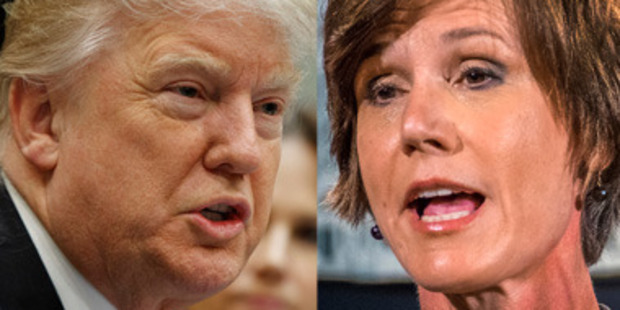 Loading President Trump fired Acting Attorney General Sally Yates today, after Yates ordered Justice Department lawyers not to defend his immigration order. Photos / AP