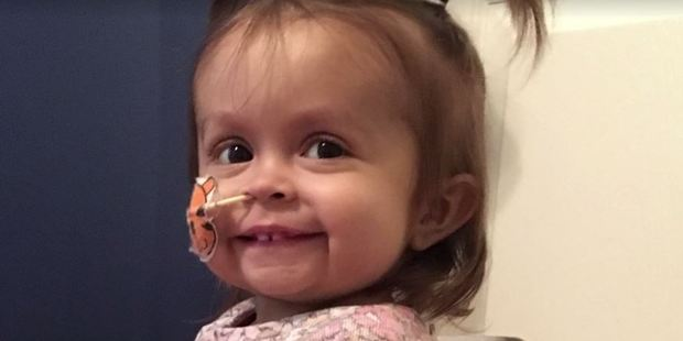 Little Talia was diagnosed with a rare, life-threatening liver disease. Photo / Washington Post