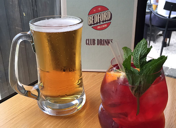 Beers and cocktails from Bedford Soda & Liquor. Photo / Joanna Hunkin