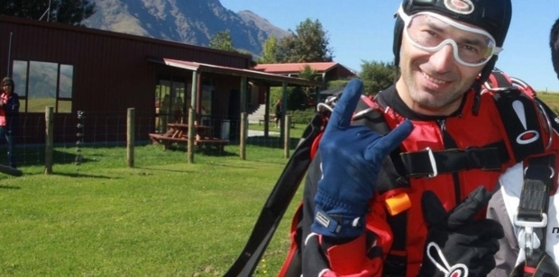 Senior skydiving instructor Sasa Jojic is one of the two injured instructors recovering in Dunedin Hospital following the accident. Photo / Supplied