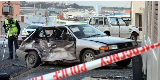 The crash happened on the corner of Hope and Stafford streets. Photo / Otago Daily Times