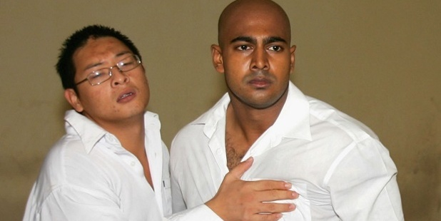 Andrew Chan and Myuran Sukumaran in a holding cell in 2006. Photo / Getty Images