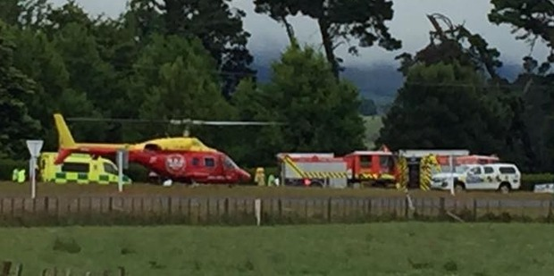 Two people have died and one is seriously injured after a crash near Karapiro. Photo / Facebook