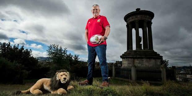 Lions coach Warren Gatland has plenty of quality players from which to chose a touring captain. Photo / Photosport