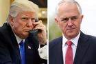 PM Malcolm Turnbull has been left hanging by Donald Trump. Photos / AP, Doug Sherring