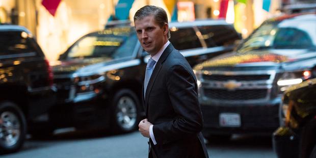 Eric Trump, son of US President Donald Trump. Photo / Jabin Botsford