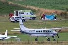 The two seriously injured skydiving instructors were flown from Queenstown to Dunedin after the accident and are now stable and recovering  at Dunedin Hospital. Photo / James Allan