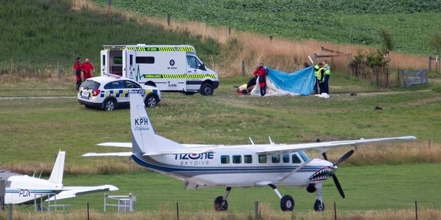 Loading The two seriously injured skydiving instructors were flown from Queenstown to Dunedin after the accident and are now stable and recovering  at Dunedin Hospital. Photo / James Allan