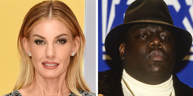 The two singers were linked together today after CNN confused Hill, left, for BIG's wife, Faith Evans. Photos/Getty