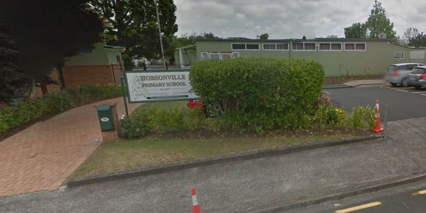 Hobsonville Primary School warned parents of the child sex offender in a notice today. Photo / Google Street View
