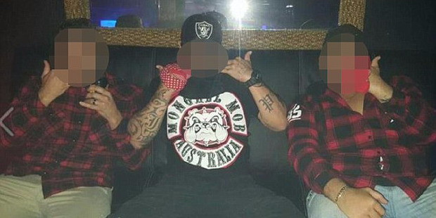 NT police are monitoring a newly established chapter of the Mongrel Mob, who have been pictured partying and wearing the gang's patches in Darwin nightclubs. Photo / Facebook