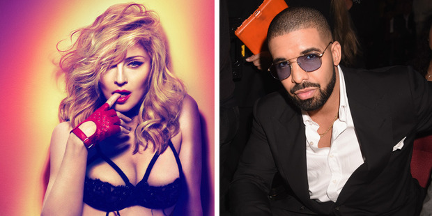 "Madonna and Drake reportedly had a ""strictly secret"" romance. Photos / Supplied, Getty Images"