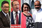 Hone Harawira, Andrew Little, Marama Fox and Te Ururoa Flavell. Photos / NZME
