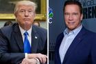 Donald Trump and Arnold Schwarzenegger feud continues. Photos / AP