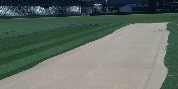 PITCH PERFECT: The McLean Park pitch is in good nick ahead of Thursday's ODI with Australia. PHOTO ROGER MORONEY