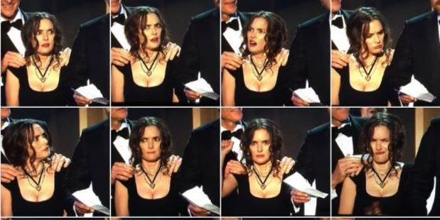 Loading SAG Awards: Winona Ryder's facial expressions inspired a host of memes. Photo / Hunter Ingram Twitter