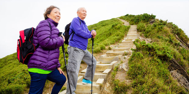 Regularly take more than 10,000 steps in a day to maintain your fitness in your 60s. Photo / 123rf