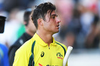 Marcus Stoinis at the end of the match after hitting 146 not out. Photosport