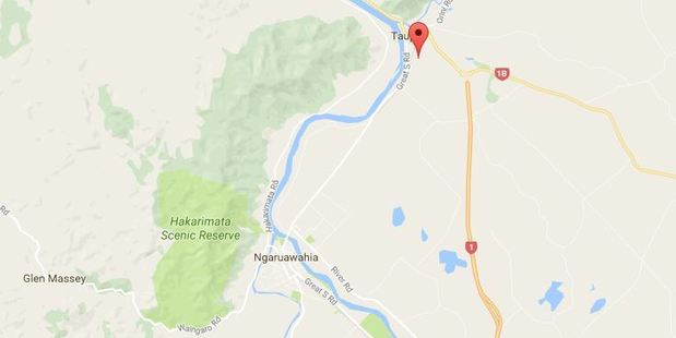 The shed fire was north east of Ngaruawahia in Taupiri. PHOTO/Google Maps