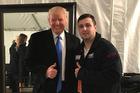 President Trump and Shane Bouvet from Illinois met in Washington on Jan. 19. Photo / Washington Post / Justin Jouvenal