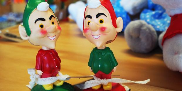 HELPING HANDS: Santa's elves make a perfect kitschy gift or decoration. PHOTO: SUPPLIED