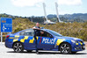 Senior Constable Greg Chisnall with the latest Highway Patrol vehicle to roll out on Northland roads for summer.PHOTO/ Michael Cunningham
