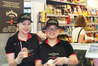 SUMMER TREATS: Sheen Khoutdavong and Jade Costen scooping up treats at New World Onekawa. PHOTO / Supplied