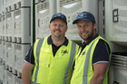 DMS site managers Marty Hansen (Te Puke) and Aaron Price (Te Puna). Photo / Supplied