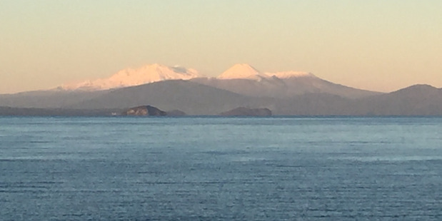 UNSAFE FOR SWIMMING: Lake Taupo is afflicted with toxic algae.
