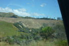 Drivers of SH4's Parapara stretch see whole hillsides sprayed off near Raetihi. Photo/ Laurel Stowell
