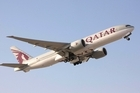 View of the Qatar Airways 777-200 Photo supplied to the New Zealand Herald