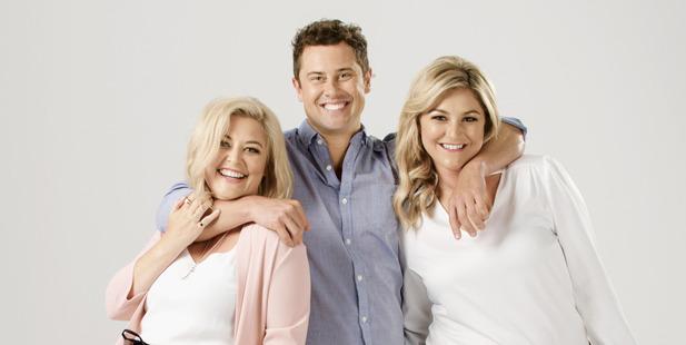 Sarah Gandy, Sam Wallace and Toni Street host The Hits new Auckland breakfast show: Sarah, Sam and Toni.