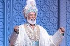 George Henare glitters in Aladdin. Photo / Deen van Meer
