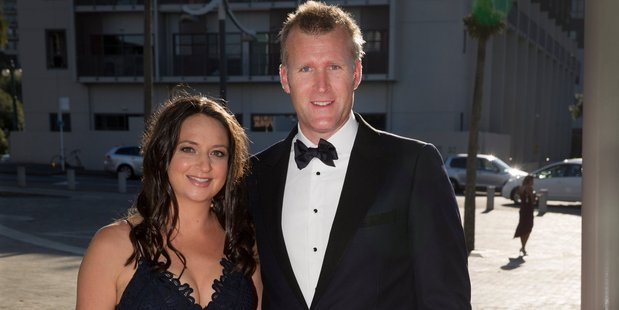 Loading Olympic rower Mahe Drysdale and wife Juliette arrive at the 54th Halberg Awards. Photo / Nick Reed
