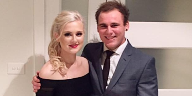 Emily Jayne Collier with her partner Tommy. Photo / Facebook