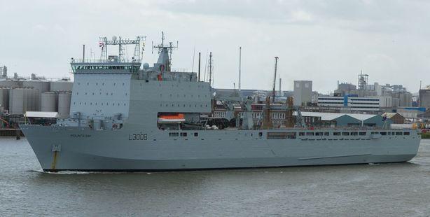 British Navy ship in the Port of Rotterdam. File photo / 123RF