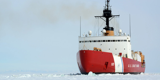 The US Coast Guard Cutter Polar Star will dock in Lyttelton later this month. Photograph: Supplied