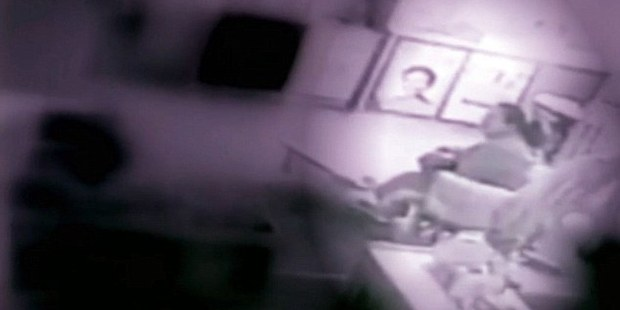 Loading Kaycee Oxendine, says surveillance video at the day care where she works caught another worker breastfeeding her three-month-old son without permission. Photo / ABC 11