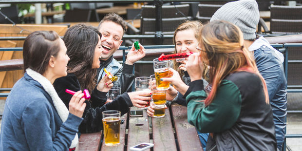Brits could have been as happy as these stock photo people are pretending to be. Photo / 123rf