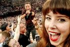 Jessica Bloom scored this sweet selfie during a Bruce Springsteen concert in Sydney. Photo/Australscope
