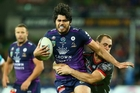 Tohu Harris is joining the Warriors next year but is expected to remain focused while continuing to play for the Storm this season. Photo / Getty Images