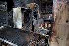 Damage inside Bistro 1284 after a fire last night.  Photo/Ben Fraser