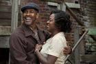 This image released by Paramount Pictures shows Denzel Washington, left, and Viola Davis in a scene from,