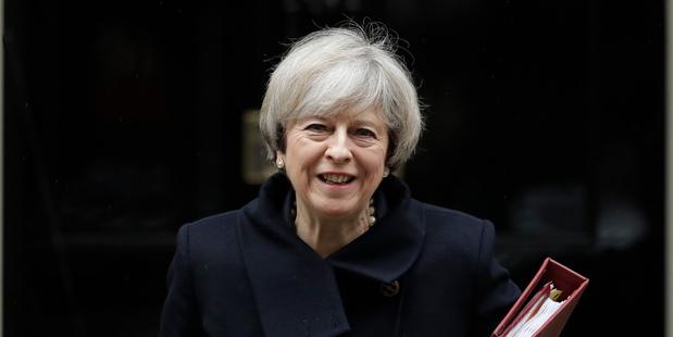 British Prime Minister Theresa May. Photo / AP