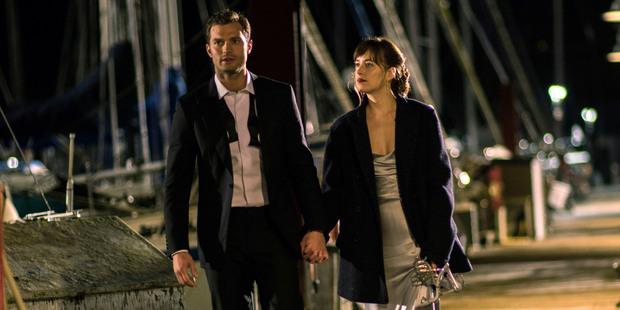 Dakota Johnson as Anastasia Steele and Jamie Dornan as Christian Grey in Fifty Shades Darker. Photo/AP