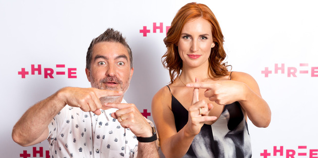 Dai Henwood and Samantha Hayes show off TV3's new look. Photo/TV3